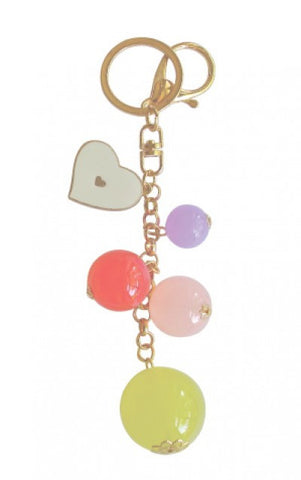 Add Hoc Bauble Keyring White Heart