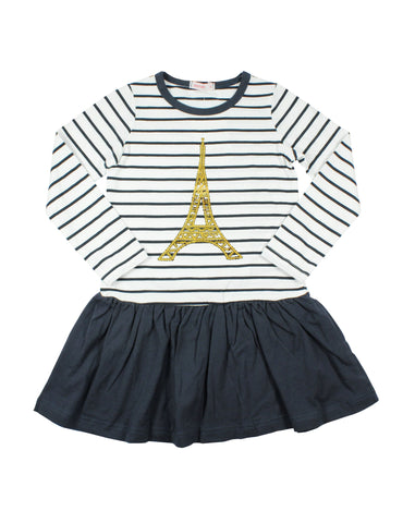 Papoose AW16 Eiffel Tower Navy Dress
