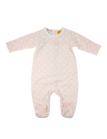 Papoose AW16 Ruffle Spot Romper Pink