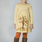 The Dragon and the Rabbit Falling Leaves Dress