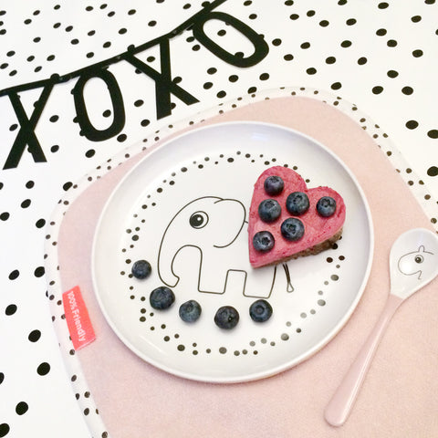 Done by Deer Happy Dots Yummy Plate - Powder