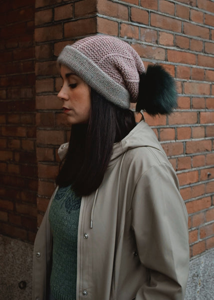 Beanie with Green Pompom