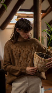 PREVENTA: KIT JACQUOTTE SWEATER by Yedraknits + Moonstruck
