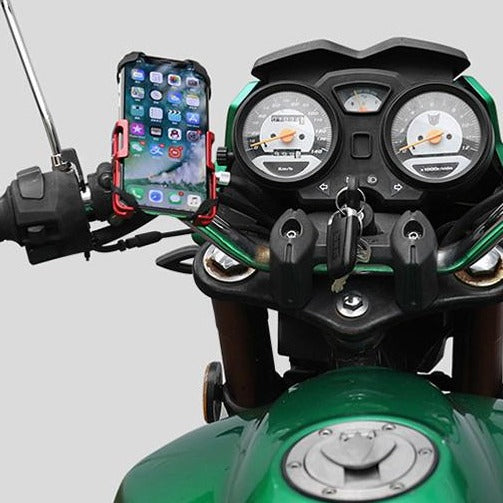 Strong, All-Metal Bicycle/Scooter/Motorcycle Phone Holder