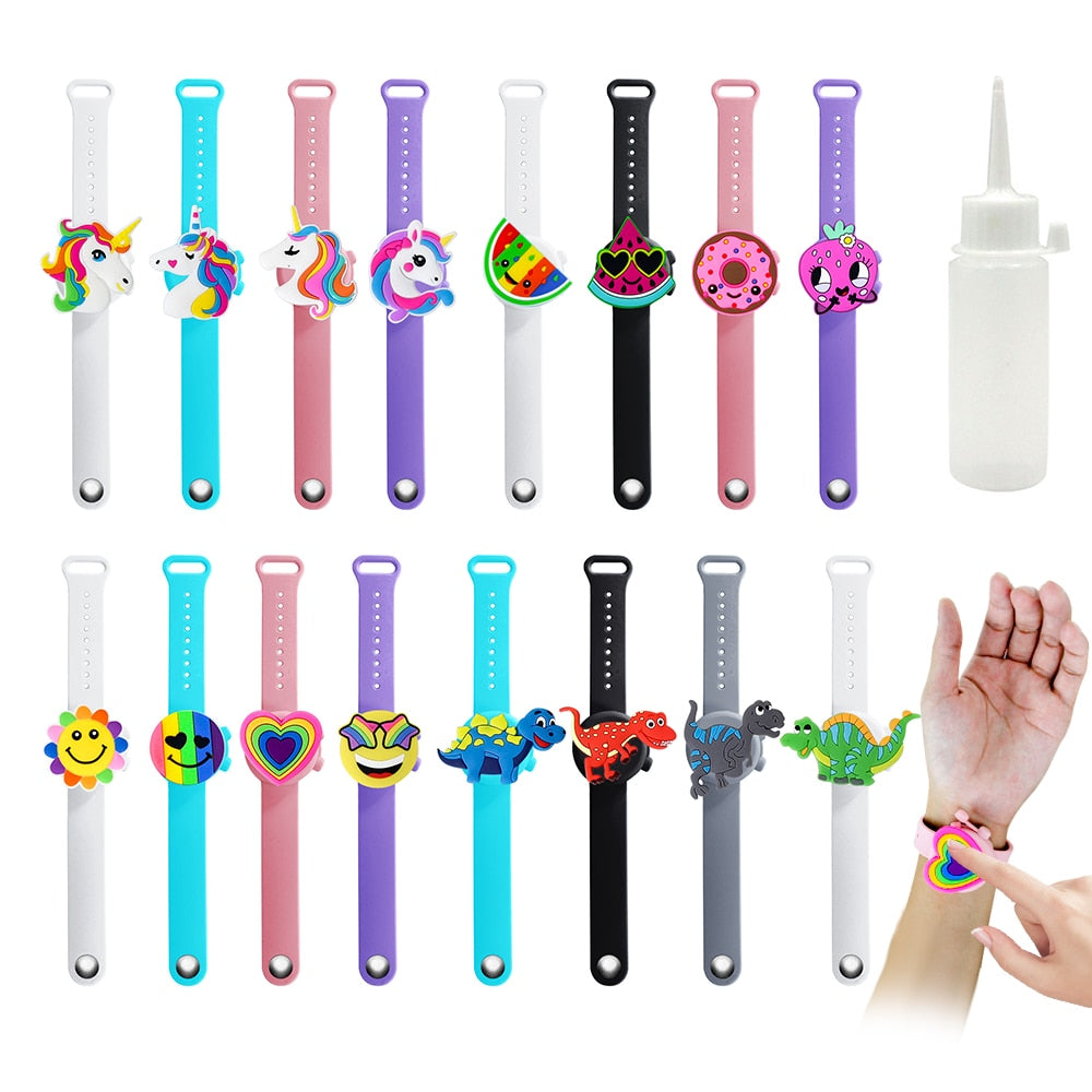 Adorable Cartoon Hand Sanitizer Wristband Bracelet