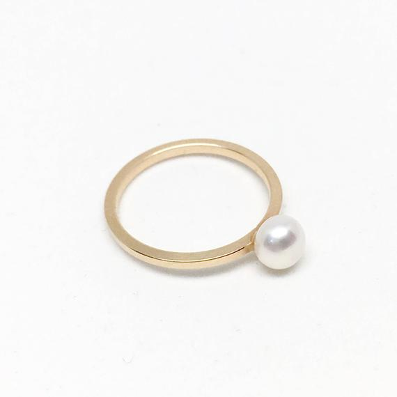 Pearl Solitaire Gold-filled Ring