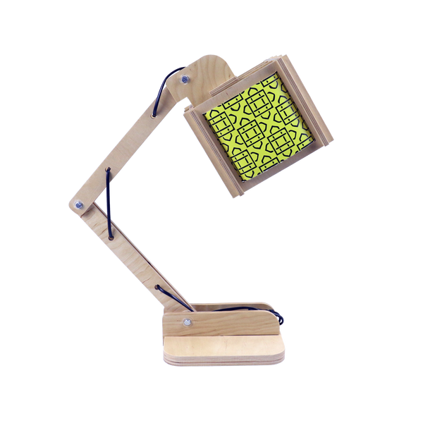 Robot Desk Lamp - Yellow Pattern