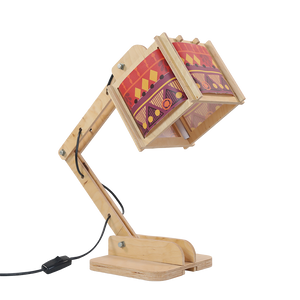 Robot Desk Lamp - Warm Tribal Pattern