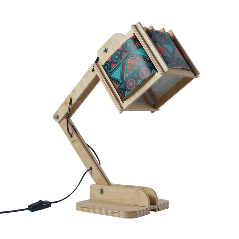 Robot Desk Lamp - Green Tribal Pattern