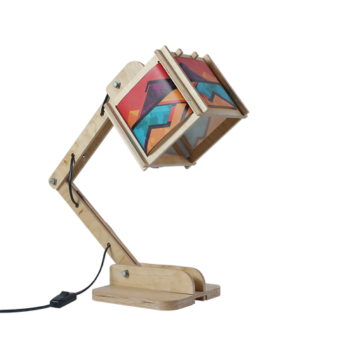 Robot Desk Lamp - African Geometric