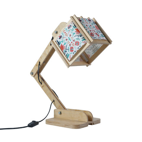 Robot Desk Lamp - Flowers Pattern
