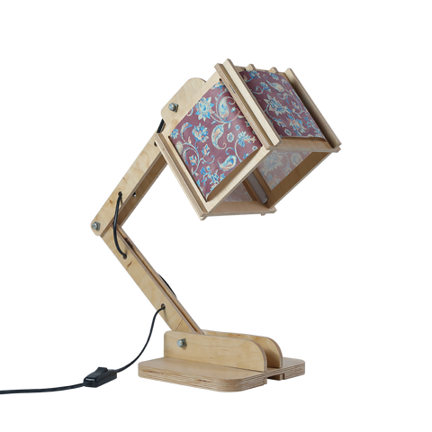 Robot Desk Lamp - Purple Floral