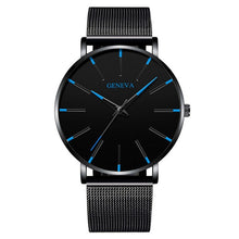 Load image into Gallery viewer, Minimalist Men Fashion Ultra Thin Watches Simple Men Business Stainless Steel Mesh Belt Quartz Watch Relogio Masculino