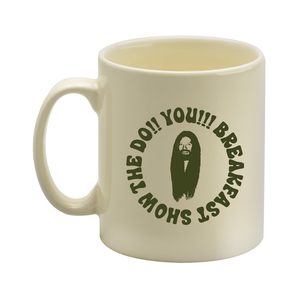 GREEN ON IVORY THE DO!! YOU!!! BREAKFAST SHOW MUG