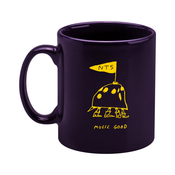 YELLOW ON PURPLE MUSIC GOOD MUG