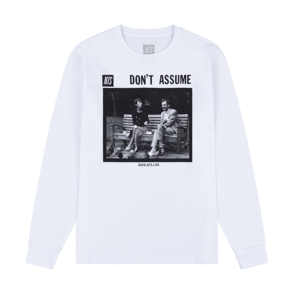 DON'T ASSUME OG WHITE LONGSLEEVE TEE