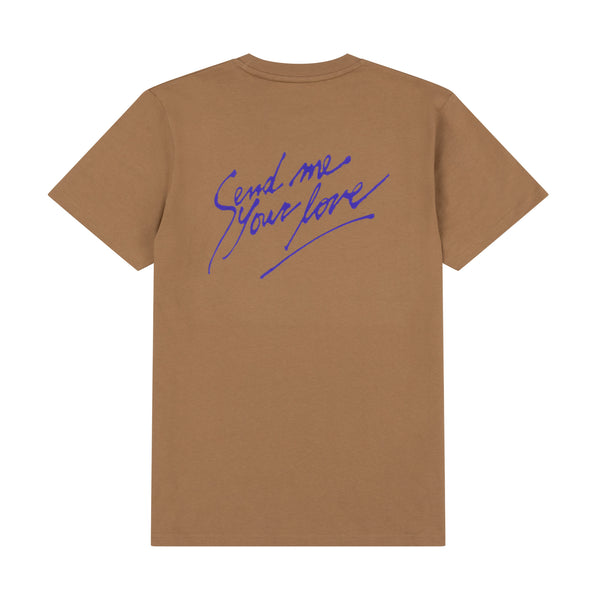 SEND ME YOUR LOVE CAMEL TEE