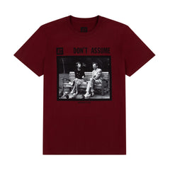 DON'T ASSUME OG BURGUNDY TEE