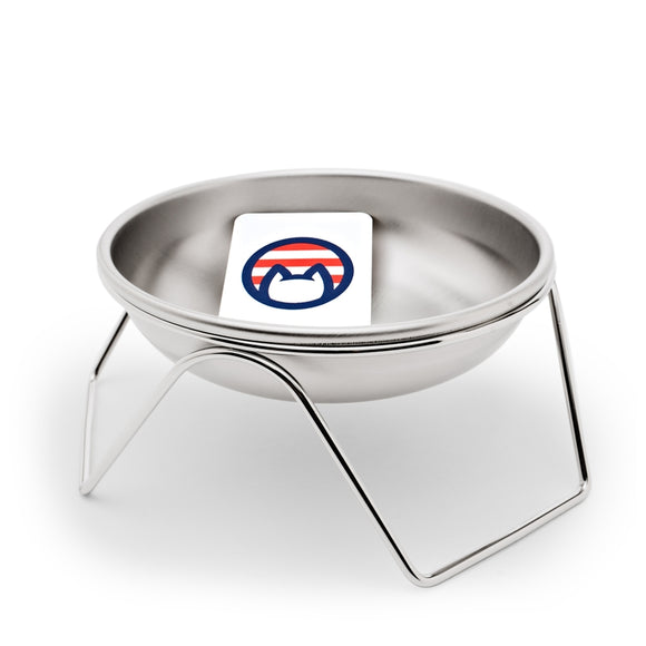 Stainless Steel Elevated Stand With Bowl - Made in USA