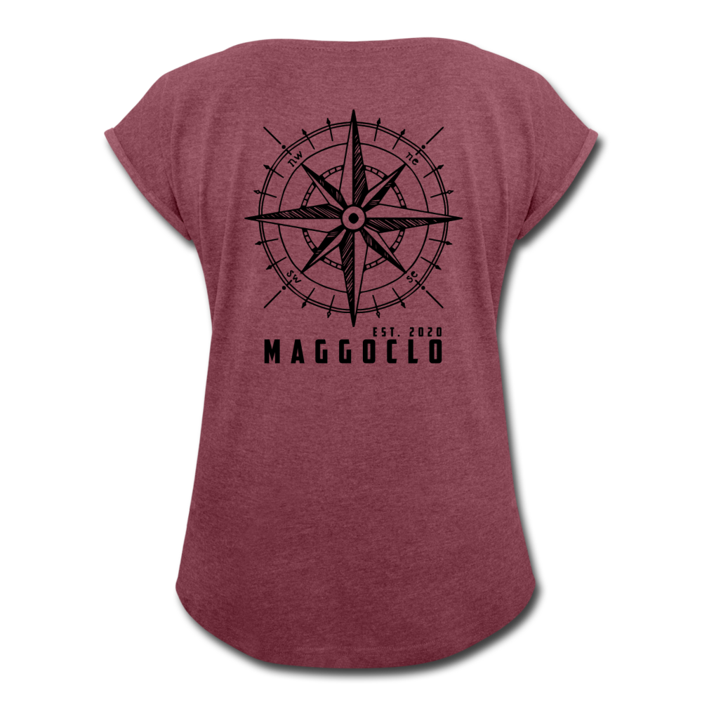 MCLO Compass Women's T-Shirt - Bordeauxrot meliert