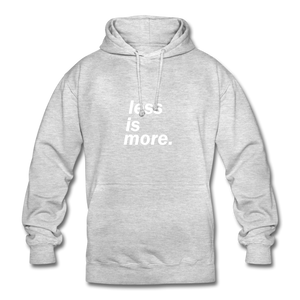 less is more. Unisex Hoodie - Hellgrau meliert