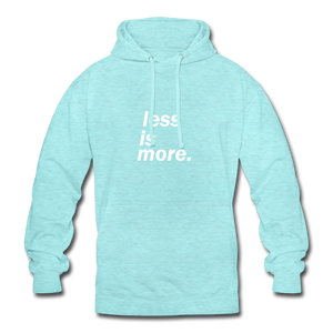 less is more. Unisex Hoodie - Surferblau