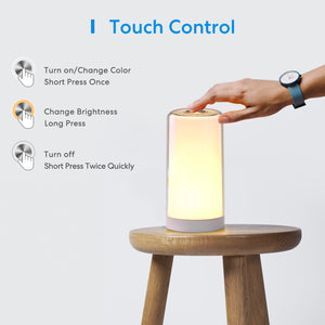Smart Lamp, Meross Dimmable WiFi Table Lamp, Support HomeKit (iOS13+), Alexa, Google Assistant and SmartThings, Tunable White and Multi-Color, Touch Control, Voice and APP Control, Schedule and Timer