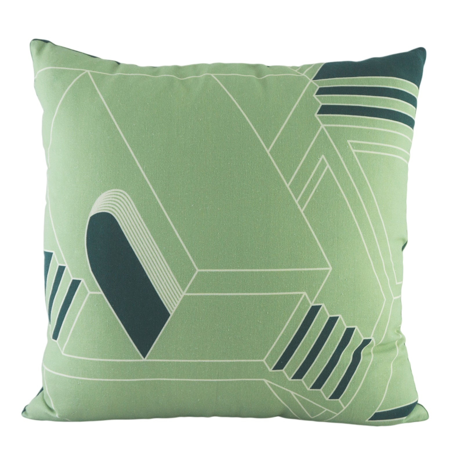 Green Cushion Cover Set. 100% Cotton. Borderline Play