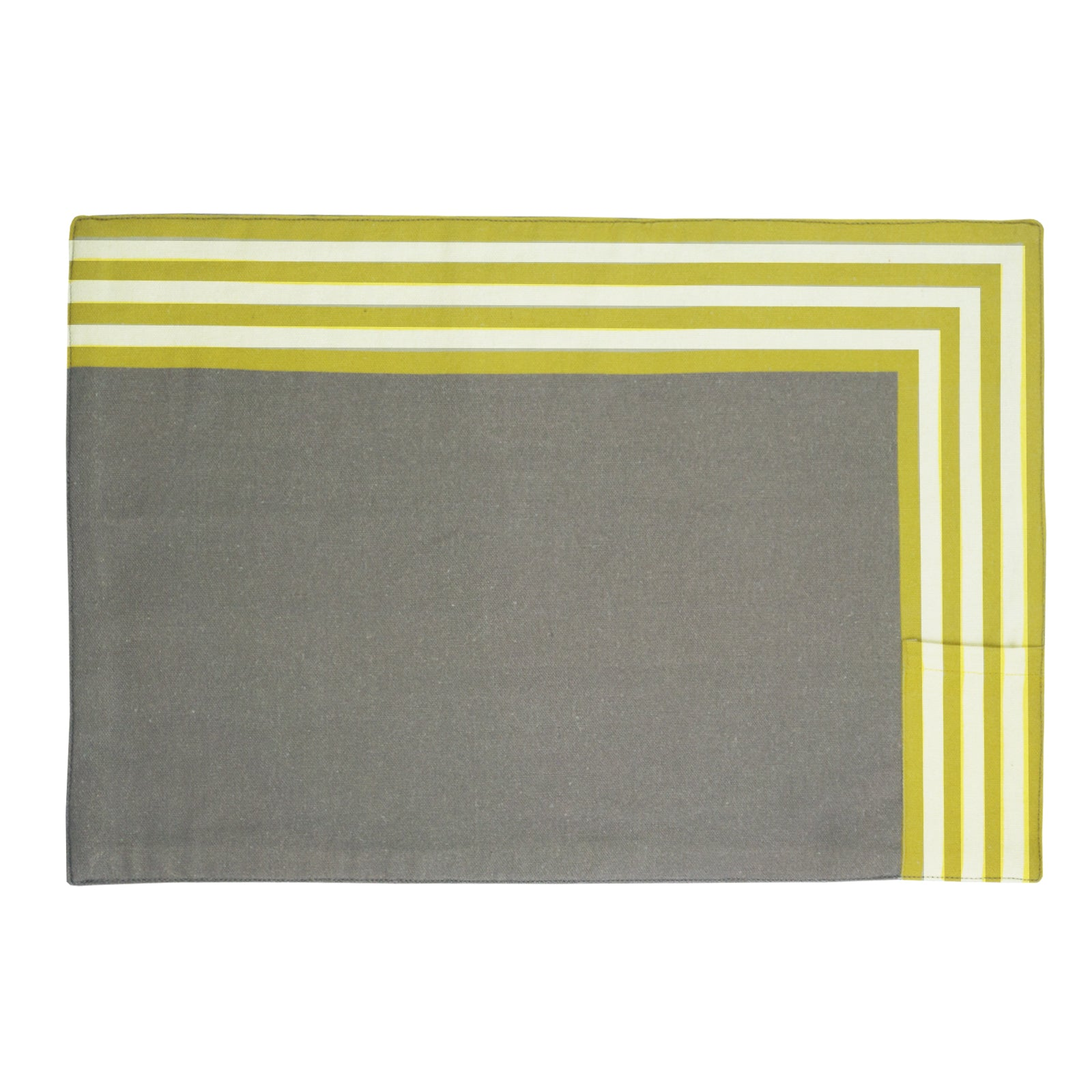 Sunrise Yellow Table Mats. Set of 4. 100% cotton. Borderline PLAY