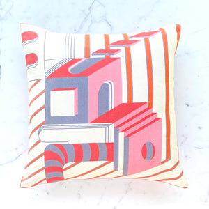 Pink Cushion Covers. Set of 2. 100% Cotton. Borderline PLAY