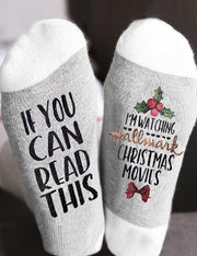if you can read this pure cotton christmas socks