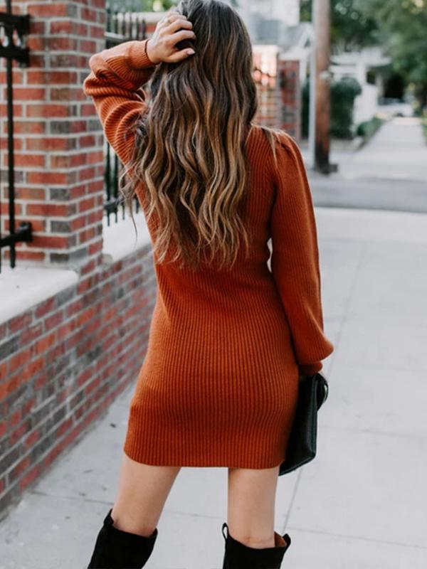 Buttocks Sexy knitted midi skirt