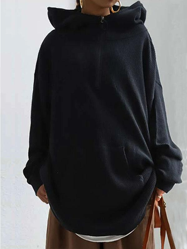Plain long sleeve sweatshirt