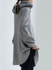 Gray Shift Long Sleeve Sweatshirt