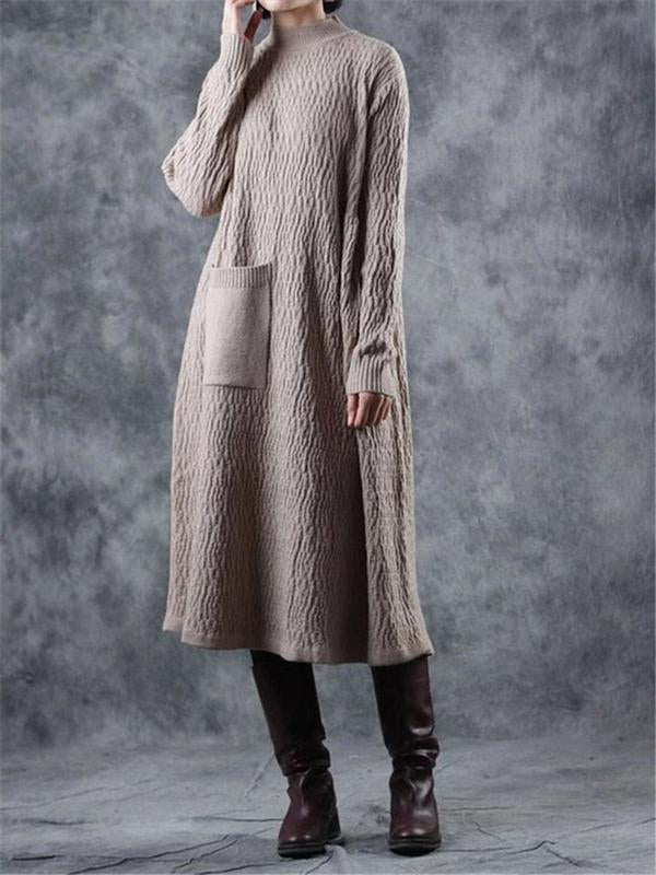 Elegant Thick Maxi Sweater Dresses