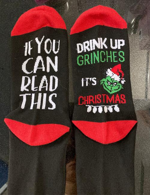 If you can read this Christmas cotton socks
