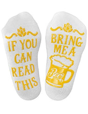 If you can read this cotton socks for men and women
