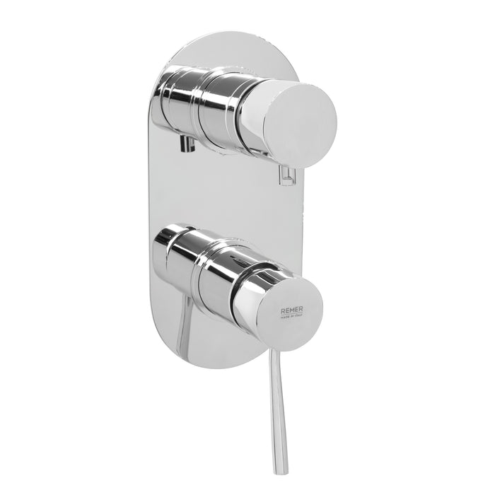 Concealed Bath Mixer with Hand Shower without Head Chrome