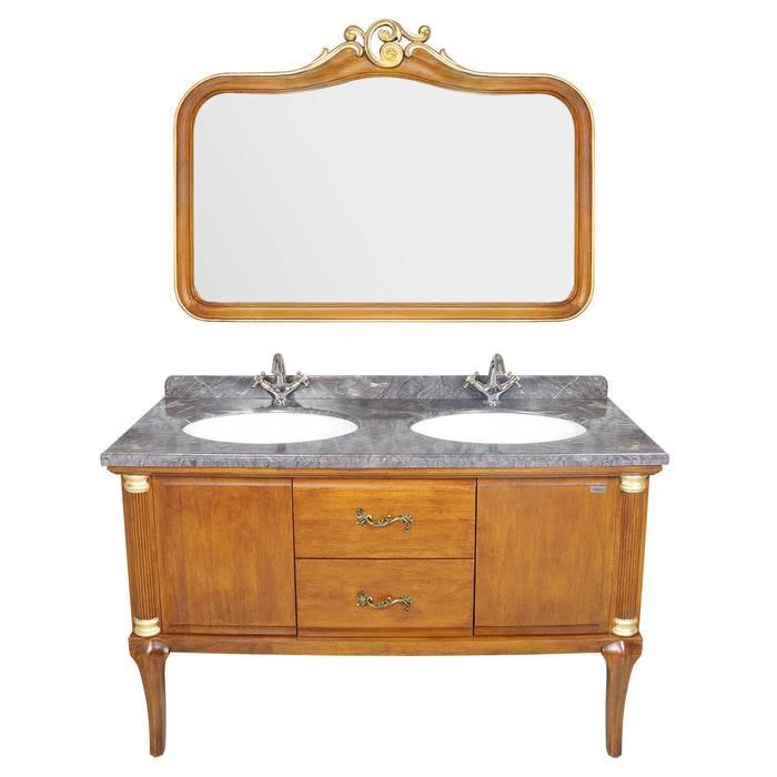 Double Wash Basin Cabinet with Mirror