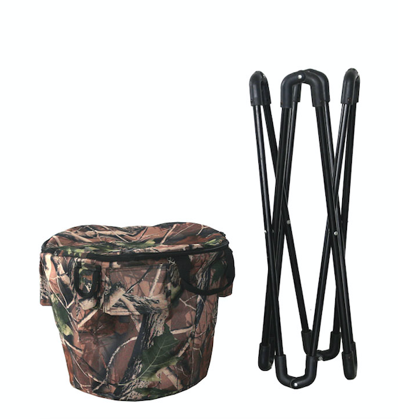 Insulated Camouflage Cooler with Stand