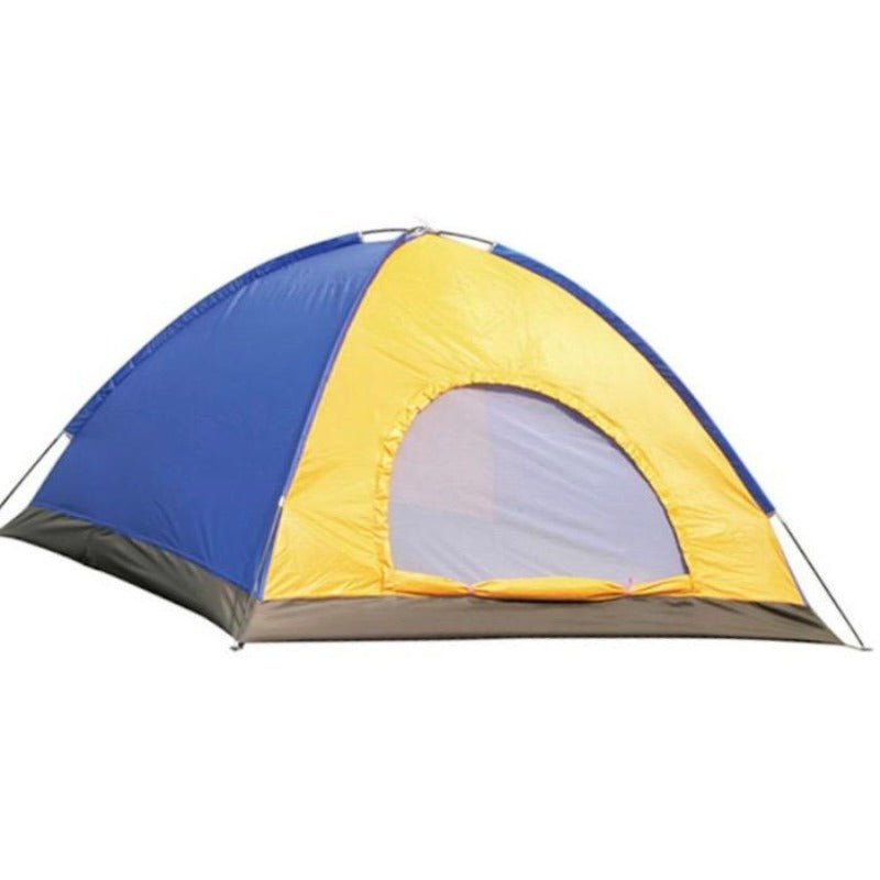 bluw and yellow camping tent