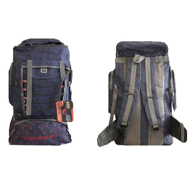 Outdoor Camping & Hiking Backpack 80L - Blue