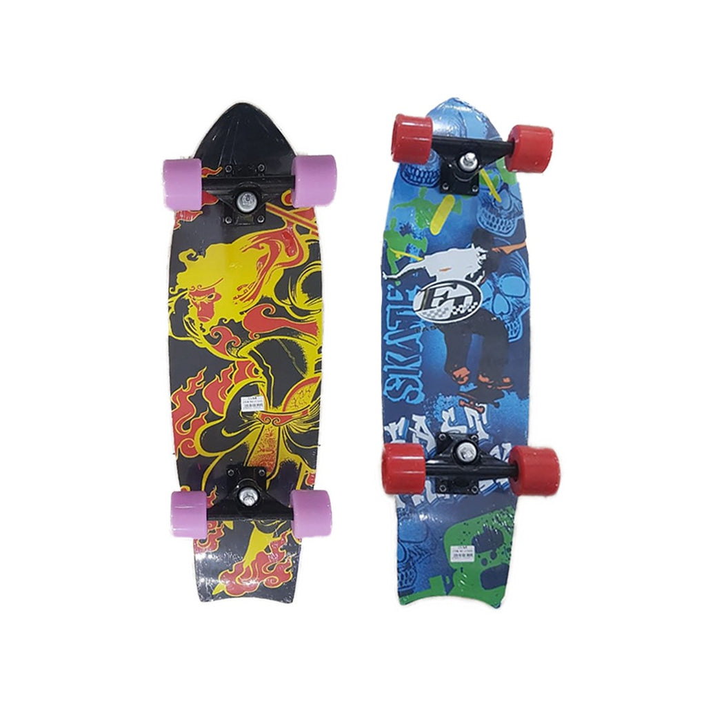 Printed Skateboard - Multicolor- 68cm