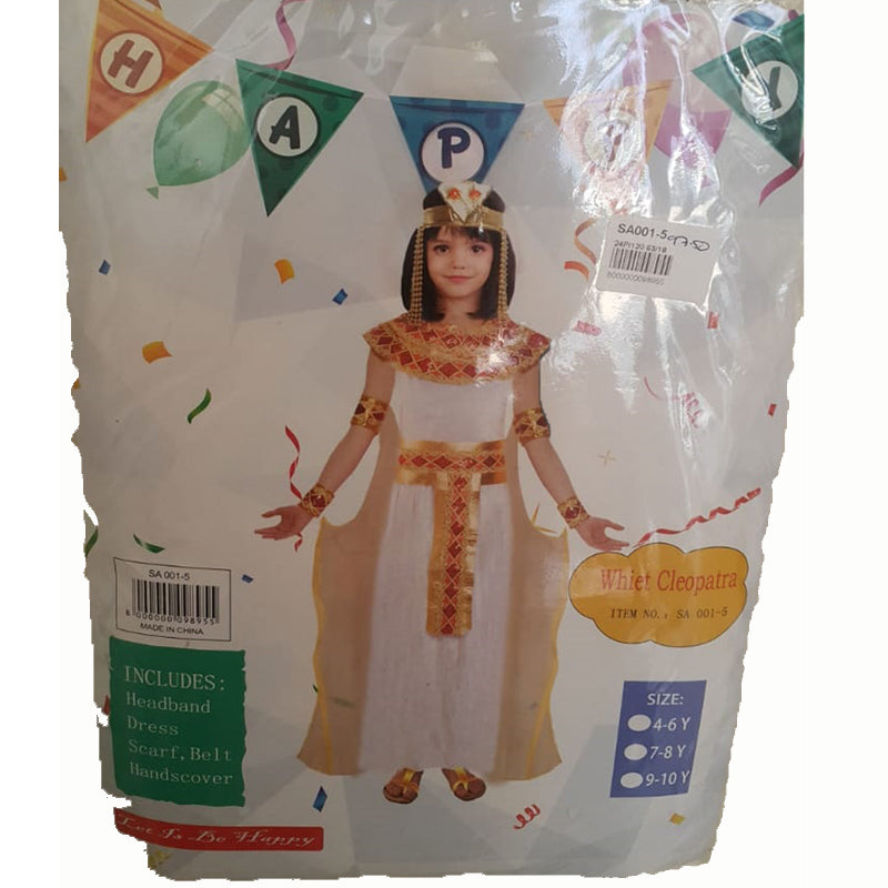 White Cleopatra 4-6 Year Children's Costume
