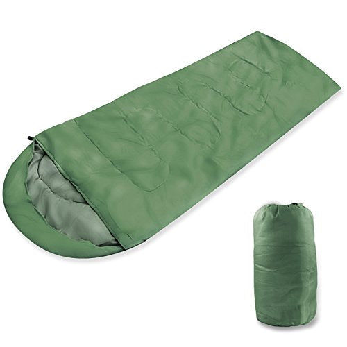 green sleeping bag