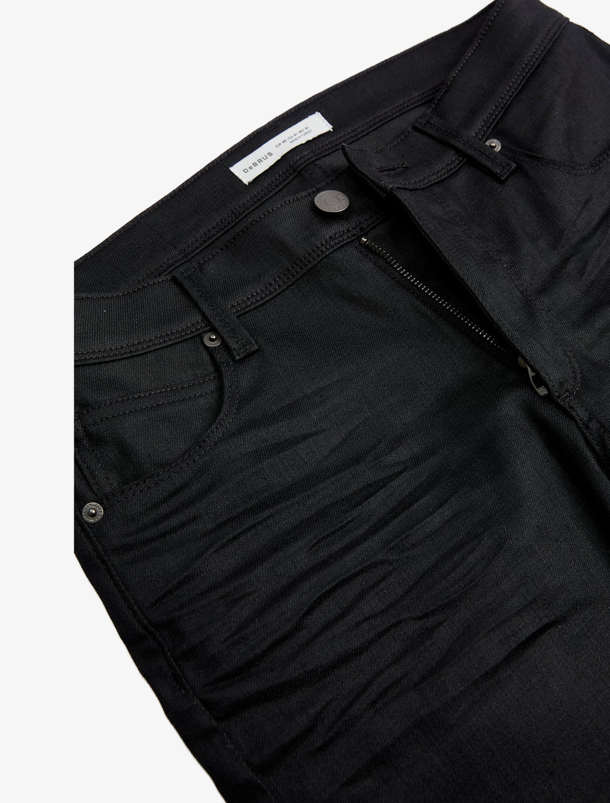WAXED EFFECT JEANS