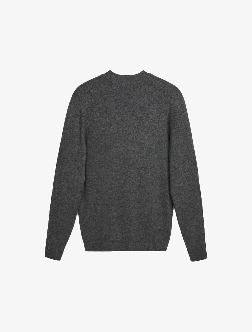 MOCK NECK SWEATER - Gray