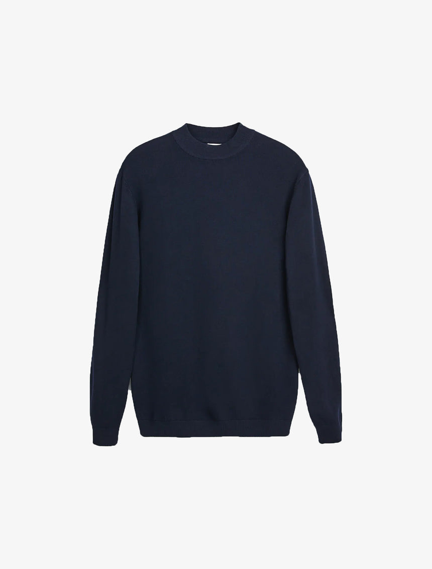 MOCK NECK SWEATER - Navy Blue