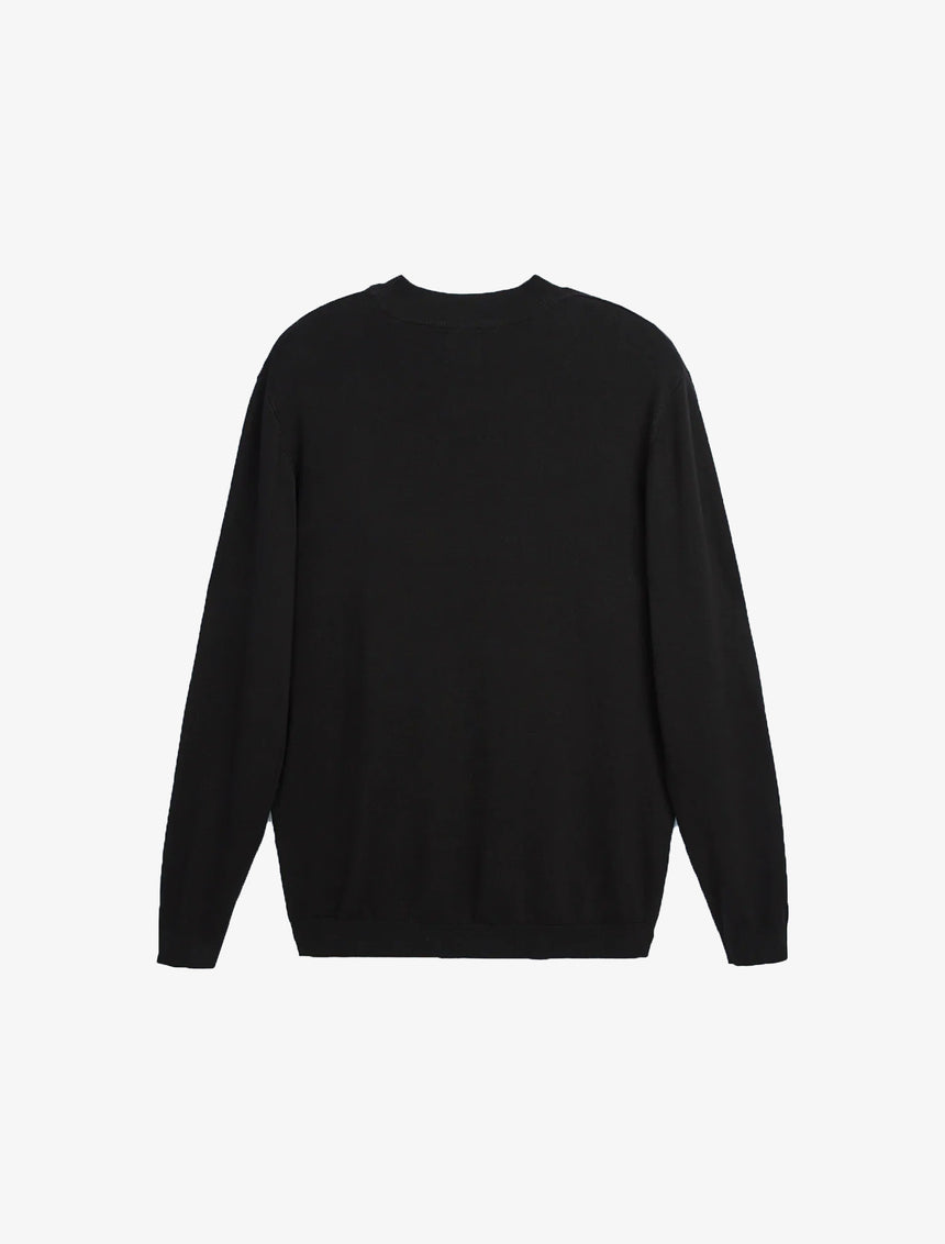MOCK NECK SWEATER - Black