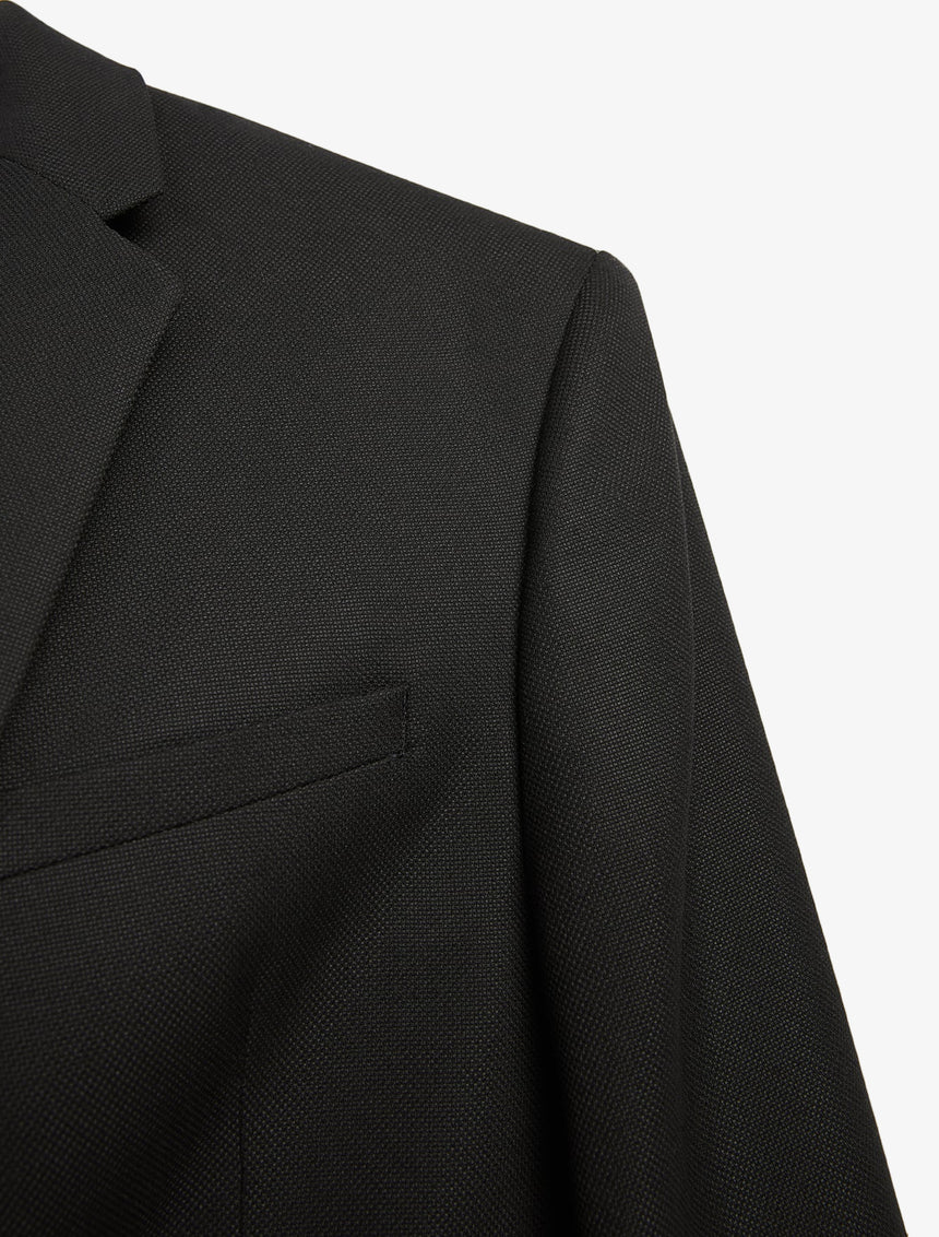 TEXTURED SUIT JACKET - Black